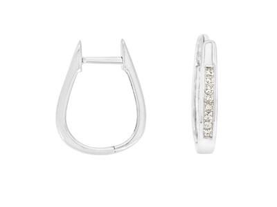 Princess Cut Diamond Huggie Hoop Earrings