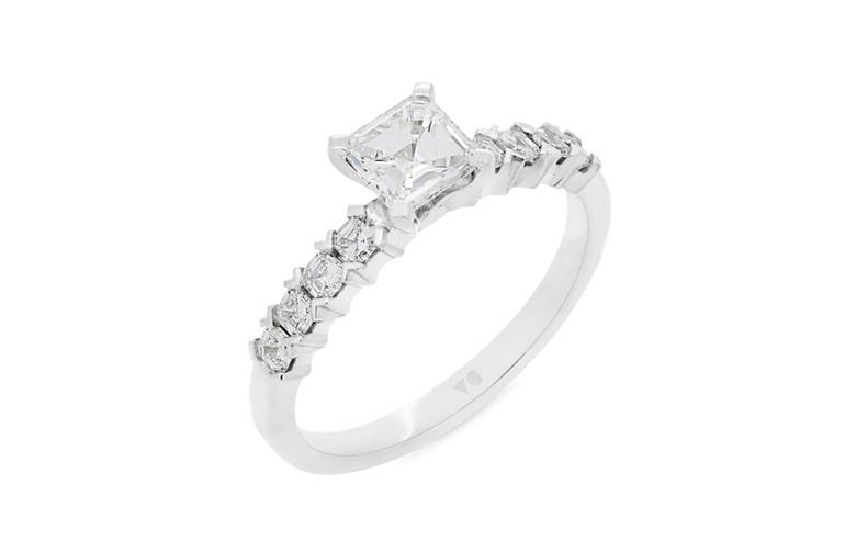 princess cut diamond solitaire engagement ring platinum yellow rose white gold