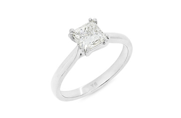 Double Prong Princess Cut Diamond Ring