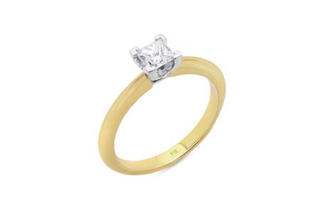Princess Cut Knife Edge Diamond Solitaire Ring
