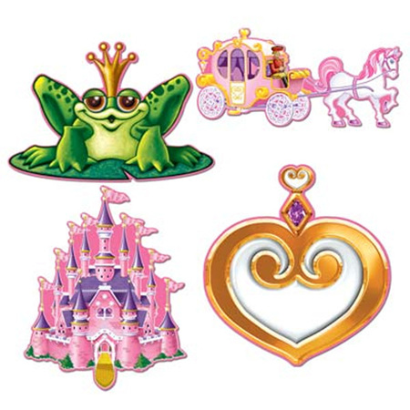 Princess Cut Outs pack of 4 - 300mm
