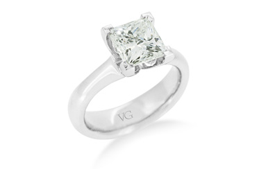 Princess Cut Solitaire Diamond Ring