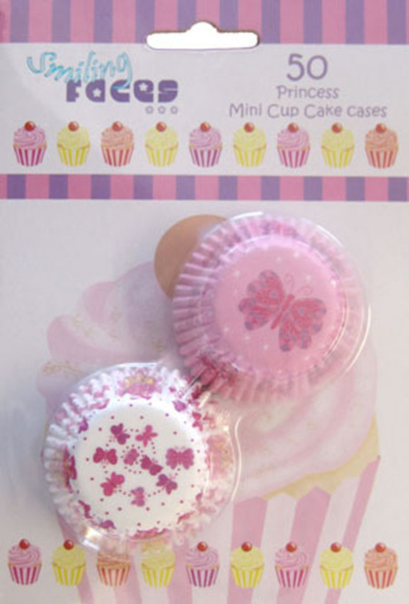 Princess Mini Cupcake cases x 50