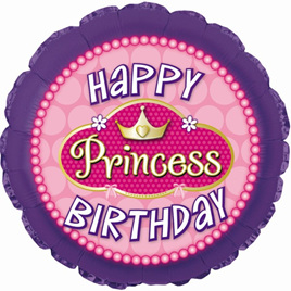Princess Pink Pearls  Superloon - Happy Birthday Balloon