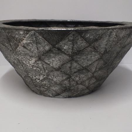 Prism Bowl Pewter Tin  C3532