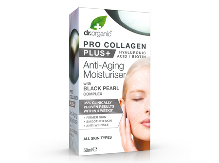 Pro Collagen+ Anti-Aging Moisturiser With Black Pearl Complex 50ml - dr. organic