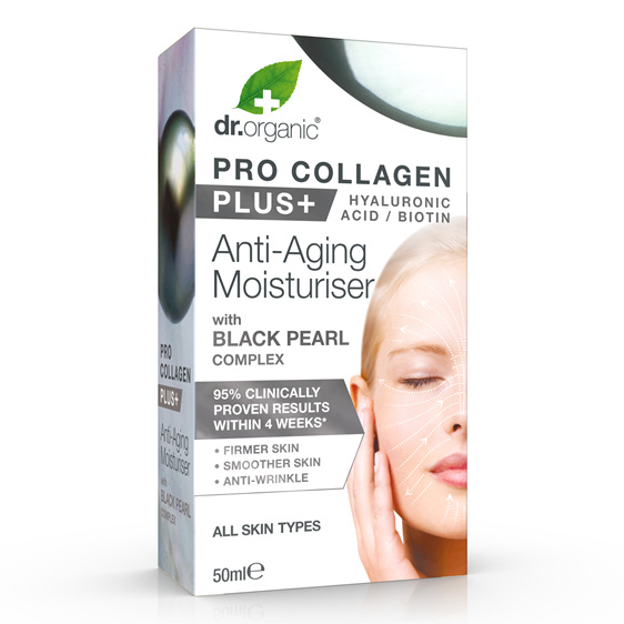 Pro Collagen+ Anti-Aging Moisturiser With Black Pearl Complex 50ml - dr. organic
