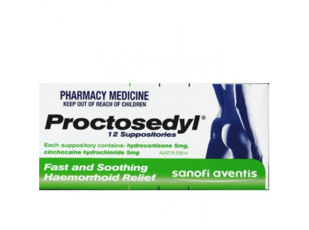 PROCTOSEDYL Supps 12s