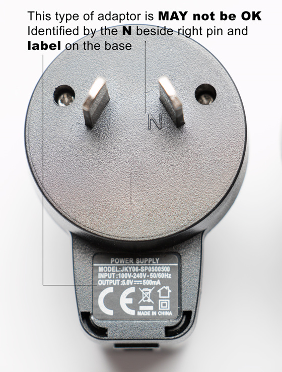Product Recall -  AC USB Adaptor
