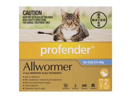 Profender Cat Topical Worm Treatment