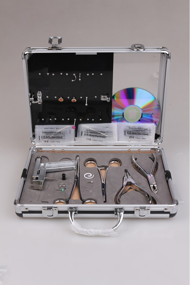 Professional Body Piercing Kit Ear Tougue Navel