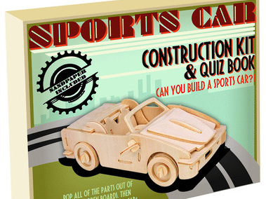 Professor Puzzle - Construction Kits - Retro Classic Vehicles - Sports Car