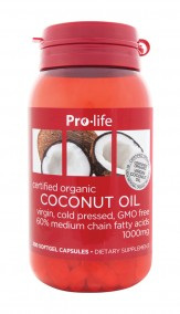 Prolife Coconut Oil Capsules 1000mg