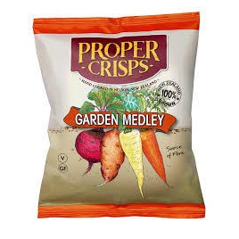 Proper Crisps Garden Medley chips 100g