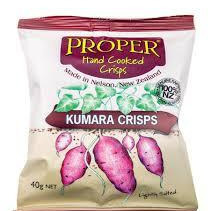 Proper Crisps Kumara Chips lightly salted