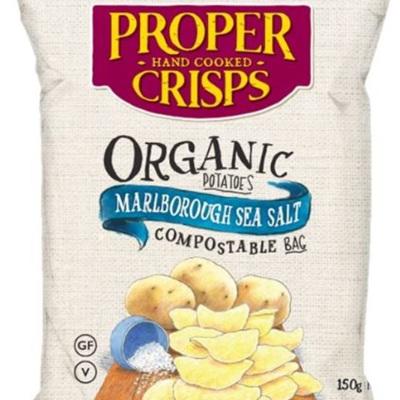 Proper Crisps Organic Marlborough Sea Salt - 150g