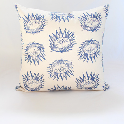 Protea Cushion in Blue