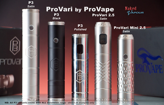 ProVari range by ProVape