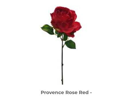 Provence Rose w2 lvs 40cm Red