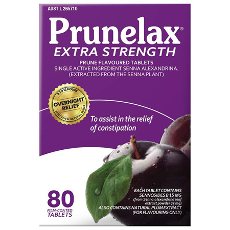 Prunelax Extra Strength 80 Tablets