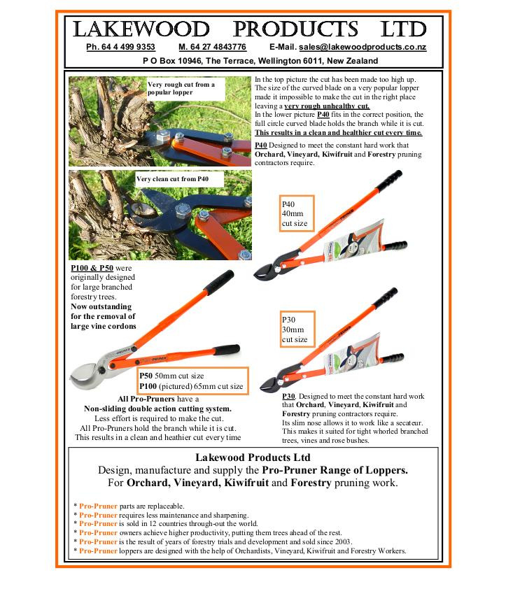 Pruning loppers horiculture