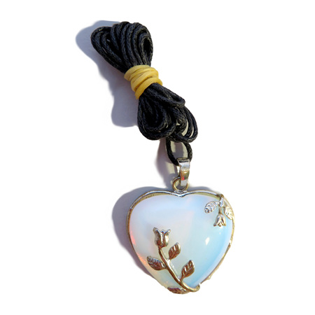 PS34 Opalite Heart Pendant