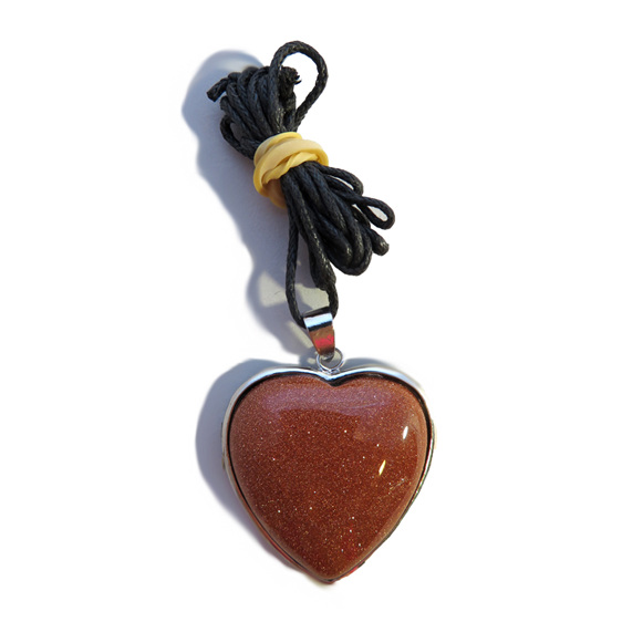 PS35 Goldstone Heart Pendant
