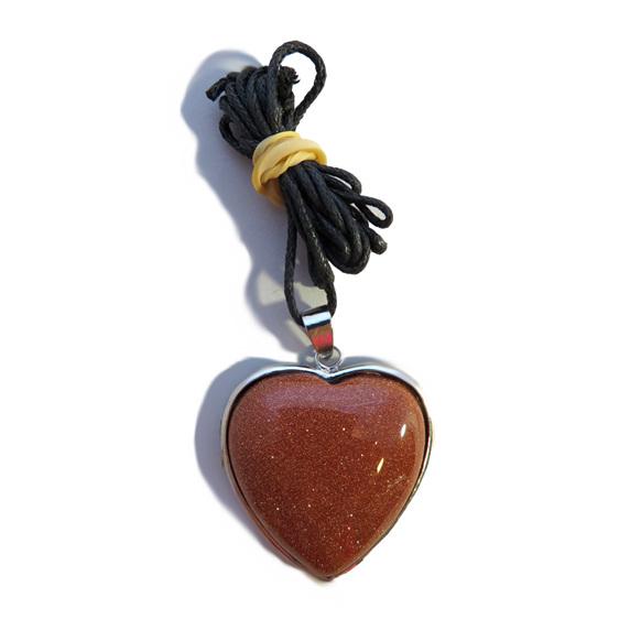 PS35 Goldstone Heart Pendant