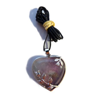 PS36 Amethyst Heart Pendant