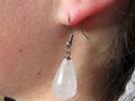 PS40 White Quartz Drop Earrings