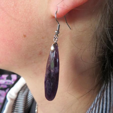 PS53 Amethyst Long Earrings