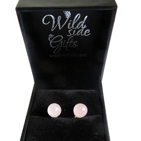 PS65 Rose Quartz Stud Earrings 8mm