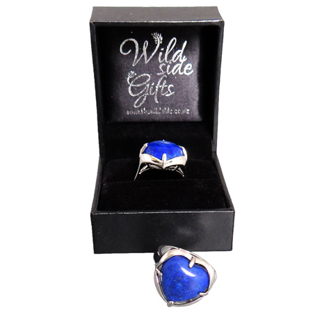 PS83 Lapis Lazuli Heart Ring