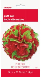 Puff Decor Red & Green