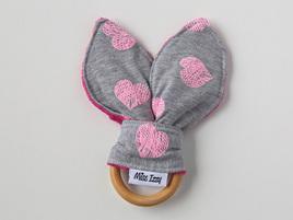 Puffy Hearts Bunny Teether