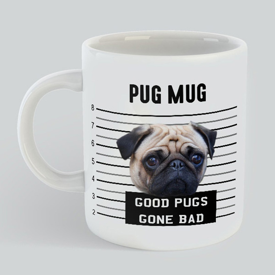 Pug Mug Gift Pug lovers good pugs gone bad