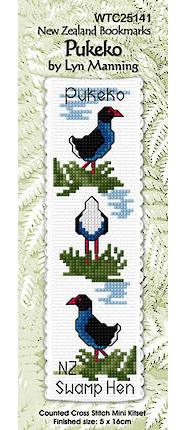 Pukeko Bookmark Stitching Kit