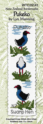 Pukeko Bookmark Stitching Kit