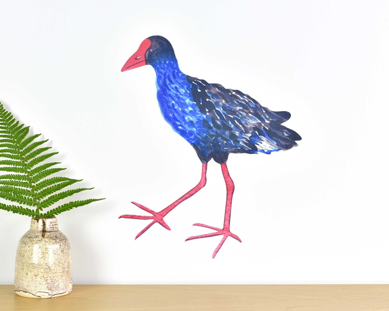 Pukeko medium wall decal