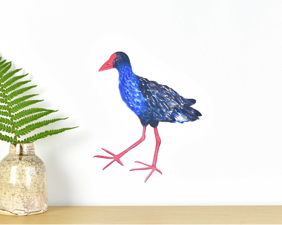 Pukeko small wall decal