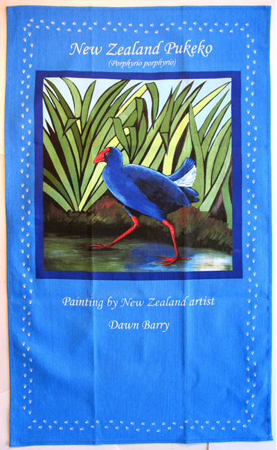 Pukeko tea towel
