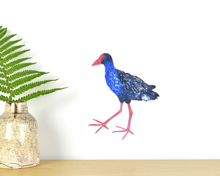 Pukeko tiny wall decal