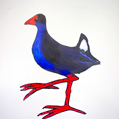 Pukeko wall decal
