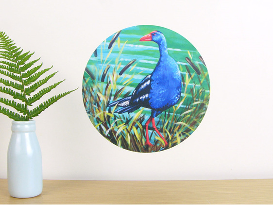 Pukeko wall decal dot