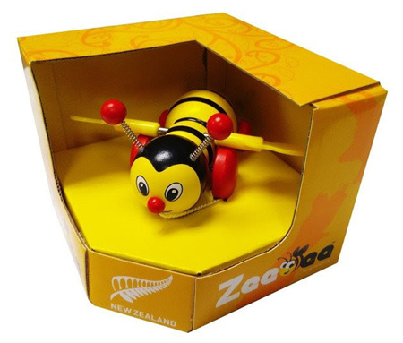 Pull Along Zeebee toy - yellow & black