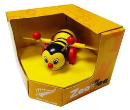 Pull Along Zeebee toy - yellow & black