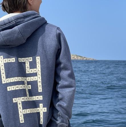 Pullover Scrabble Hoodie - Vintage Navy