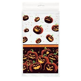 Pumpkin Grin Table Cover