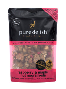 Pure Delish Raspberry & Maple Nut Nograin-ola 400gm