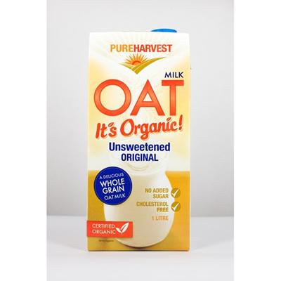 Pure Harvest Organic Oat Milk Unsweetened 1ltr